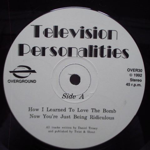 "TELEVISION PERSONALITIES - How I Learned To Love The Bomb (UK Reissue 12"")"