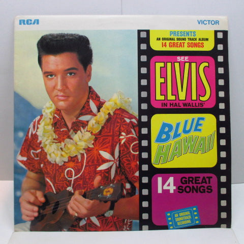 ELVIS PRESLEY - Blue Hawaii (UK 70's Re Orange Label Stereo LP/Matt CVR)