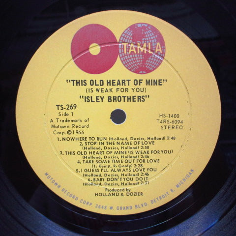 ISLEY BROTHERS - This Old Heart Of Mine (US Orig.Stereo LP)