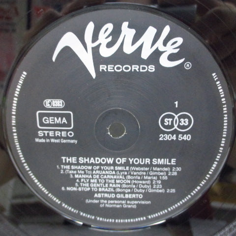 ASTRUD GILBERTO - The Shadow Of Your Smile (German Re Stereo LP)