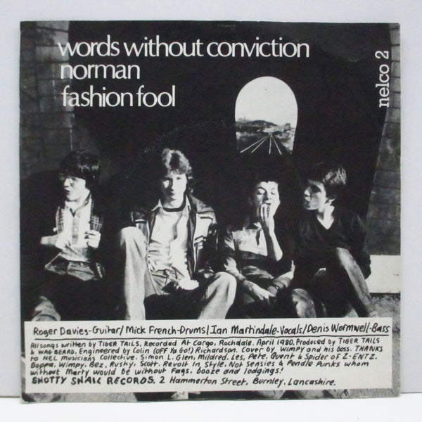 "TIGER TAILS (タイガー・テールズ)  - Words Without Conviction E.P. (UK Orig.7"")"