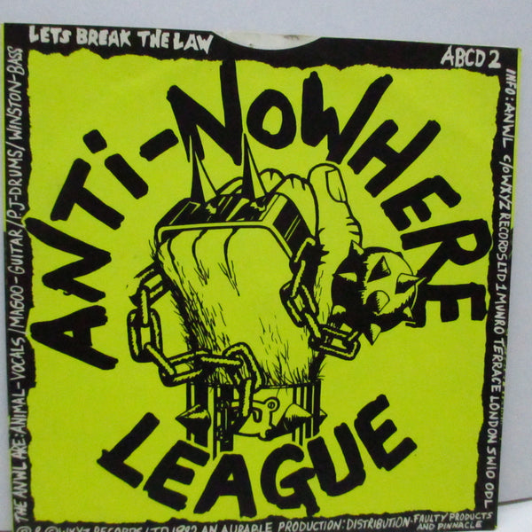 "ANTI-NOWHERE LEAGUE - I Hate...People (UK Orig.7""/Black Logo)"