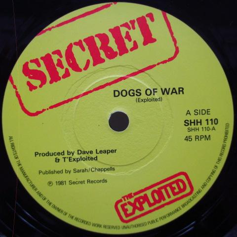 "EXPLOITED, THE - Dogs Of War (UK Orig.7"")"