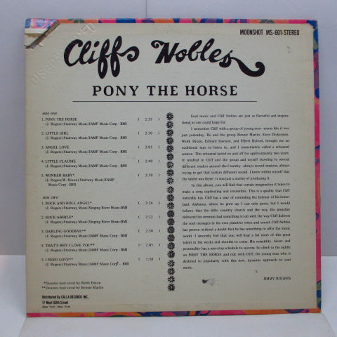 CLIFF NOBLES & CO. - Pony The Horse (US Orig.Stereo LP)