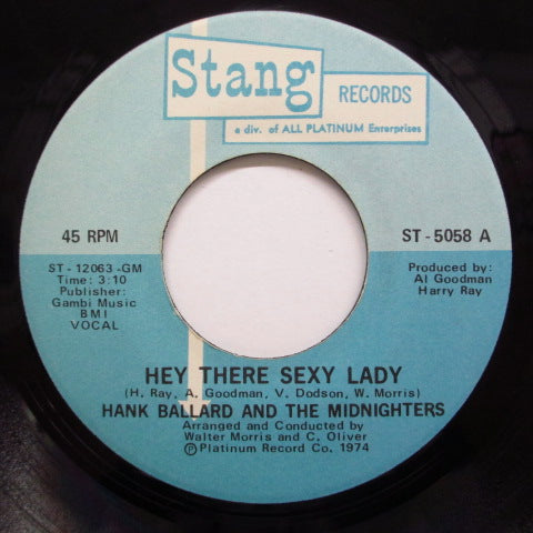 HANK BALLARD & THE MIDNIGHTERS - Hey There Sexy Lady