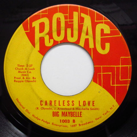 BIG MAYBELLE - Careless Love / My Mother's Eyes