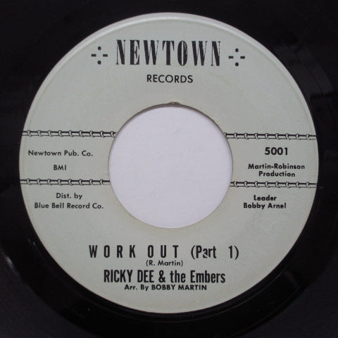 RICKY DEE & THE EMBERS - Work Out (Part 1 & 2) (Orig)