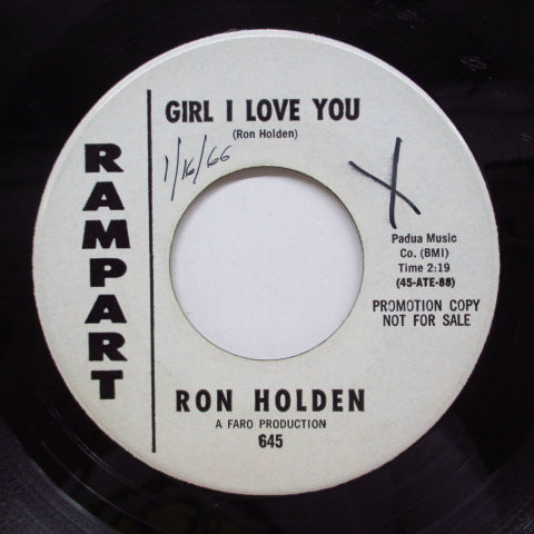 RON HOLDEN - Girl I Love You (Promo)