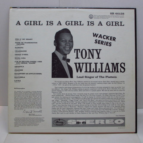 TONY WILLIAMS - A Girl Is A Girl Is A Girl (US Orig.Stereo LP)