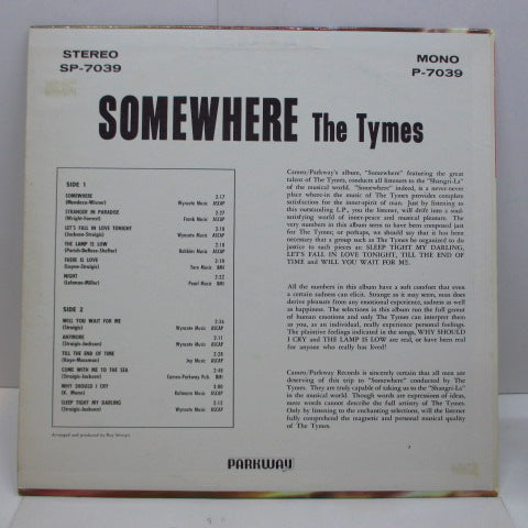 "TYMES - Somewhere (Orig.Mono LP+Bonus 7"")"