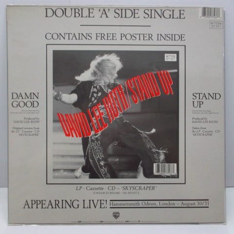 "DAVID LEE ROTH - Damn Good (UK Ltd.Special Pack 7""+Poster/Stickered PVC)"