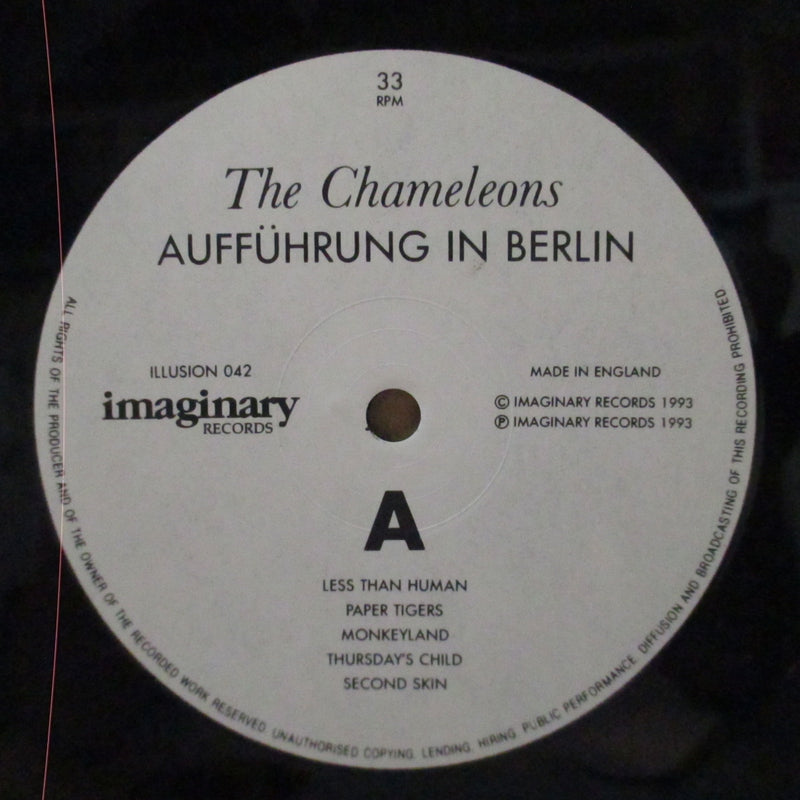 CHAMELEONS, THE - Auffuhrung In Berlin (UK Orig.LP)