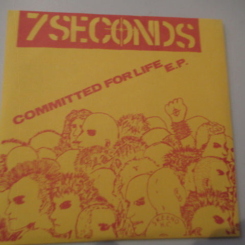 "7 SECONDS - Committed For Life E.P. (US 6th Press? 7""/On Address PS)"