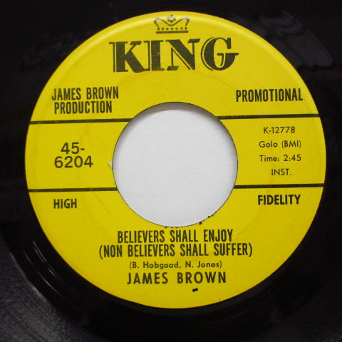 JAMES BROWN - Tit For Tat / Believers Shall Enjoy (Promo)