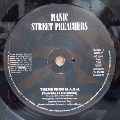 "MANIC STREET PREACHERS / FATIMA MANSIONS, THE - Theme From M.A.S.H. (UK Orig.7"")"