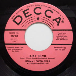JIMMY LOVEMAKER - Foxy Devil / Soul (Promo)