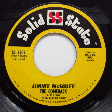 JIMMY MCIFF (JIMMIE McGRIFF) - Cherry / The Comeback (Orig)