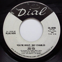 JOE TEX - You're Right, Ray Charles (Promo)