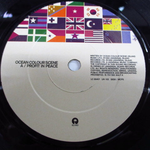 "OCEAN COLOUR SCENE - Proft In Peace (UK Ltd. 7""/Poster)"