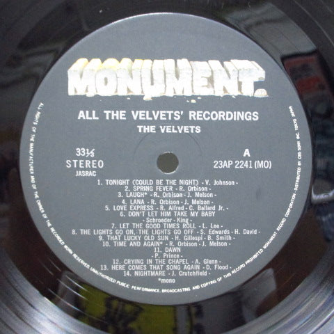 VELVETS - All The Velvet's Recordings (Japan Orig)