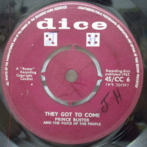 "PRINCE BUSTER - They Got To Come / These Are The Times (UK Orig.7"")"