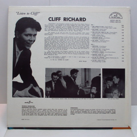 CLIFF RICHARD & THE SHADOWS - Listen To Cliff (US 60's 2nd Press Stereo LP)