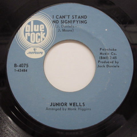 JUNIOR WELLS - I Can't Stand No Signifying (Orig)