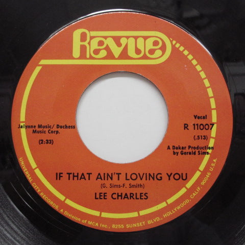 LEE CHARLES - If That Ain't Loving You (Orig)