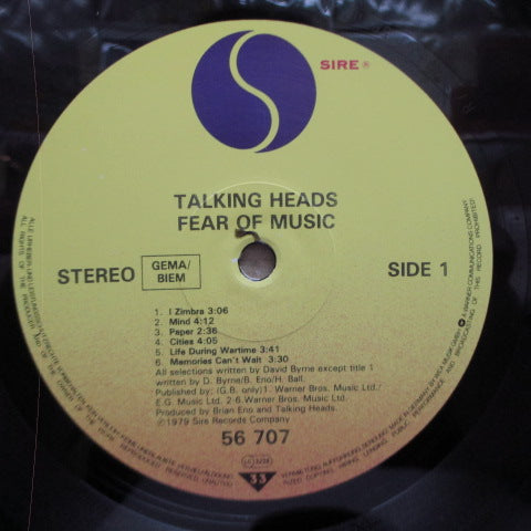 TALKING HEADS-Fear Of Music (EU 2nd Press.LP / Embossed CVR)