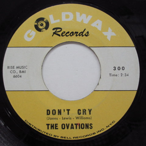 OVATIONS - I Need A Lot Of Loving (Yellow&White Lbl)