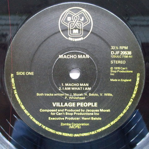 VILLAGE PEOPLE - Macho Man (UK Orig.LP)