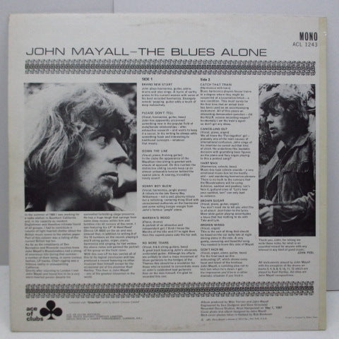 JOHN MAYALL & BLUESBREAKERS - The Blues Alone (UK Orig.Mono LP/CS#2)