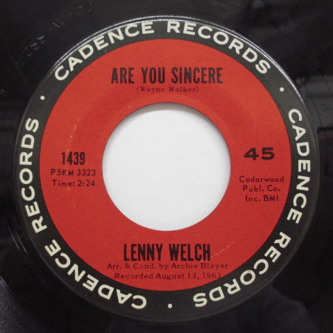 LENNY WELCH - Since I Fell For You (Orig)