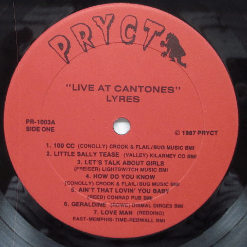 LYRES - Live At Cantones (US Orig.LP)