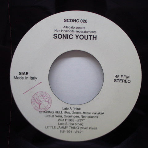 "SONIC YOUTH - Sonic Life (Italy Orig.7"")"