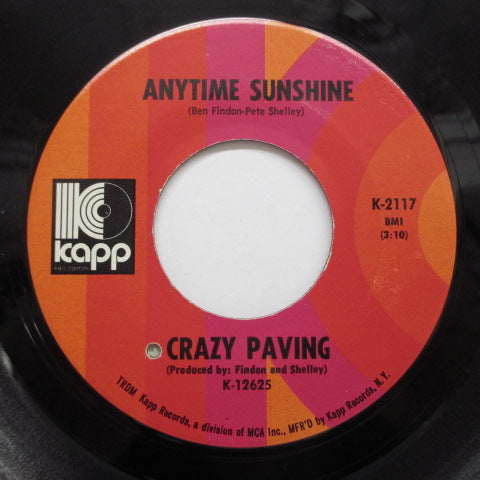 CRAZY PAVING - Anytime Sunshine (Orig.)