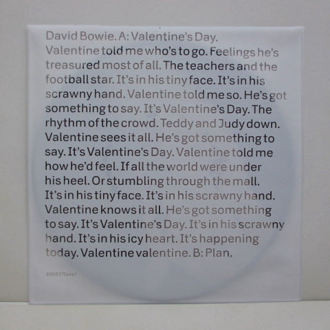DAVID BOWIE - Valentine's Day (EU 2013 Limited Picture Disc)