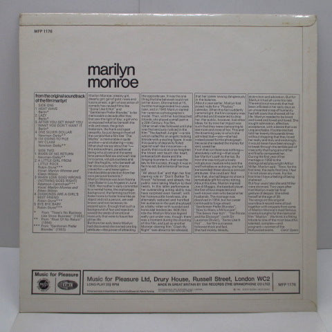 MARILYN MONROE - Marilyn (UK Re/M.F.P社盤)
