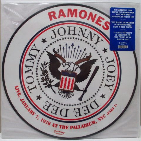 RAMONES - Live, January 7, 1978 At The Palladium, NYC (Part 1) ※Picture