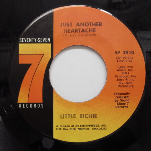 LITTLE RICHIE - Just Another Heartache (77 Reissue)