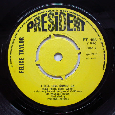 FELICE TAYLOR - I Feel Love Comin' On (UK Orig/Round Center)
