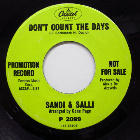 SANDI & SALLI - Don't Count The Days (Promo)
