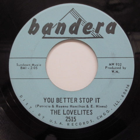 LOVELITES - I Found Me A Lover (2nd Press)