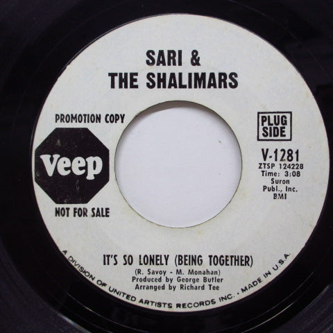 SARI & THE SHALIMARS - It's So Lonely (Promo)