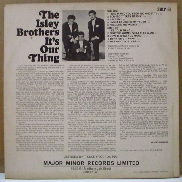 ISLEY BROTHERS (アイズレー・ブラザーズ)  - It's Our Thing (UK Orig.Stereo LP/CS)