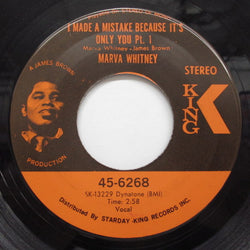 MARVA WHITNEY - I Made A Mistake Because It's Only You (Pt 1&2) (Orig)