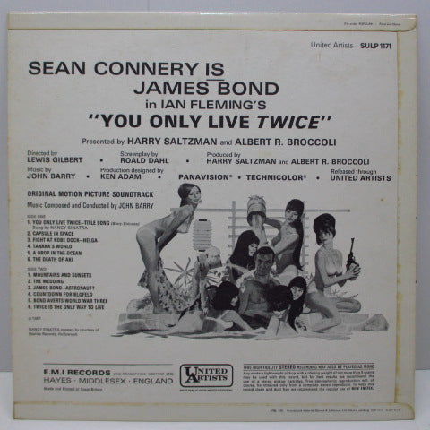 O.S.T. - 007 / You Only Live Twice (UK Orig.Stereo LP/CFS)