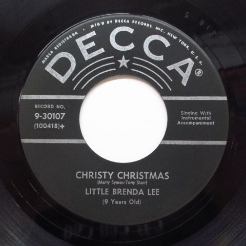 BRENDA LEE (LITTLE BRENDA LEE) - Christy Christmas (Orig)