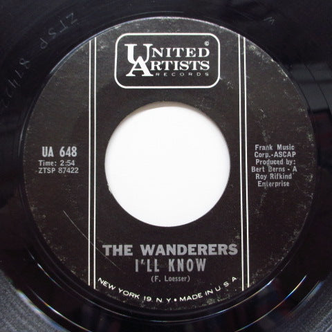 WANDERERS - You Can't Run Away From Me (Orig)