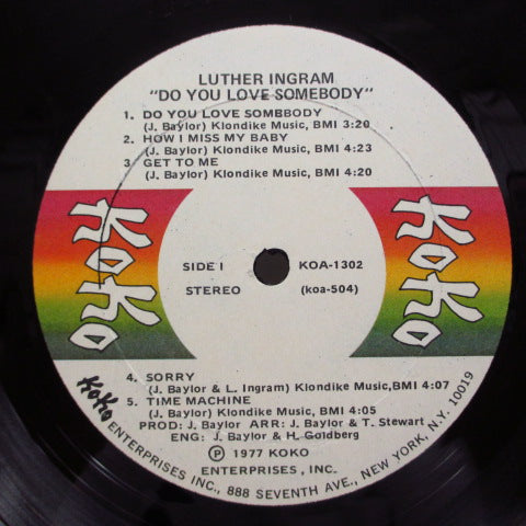 LUTHER INGRAM - Do You Love Somebody (US:Orig.)